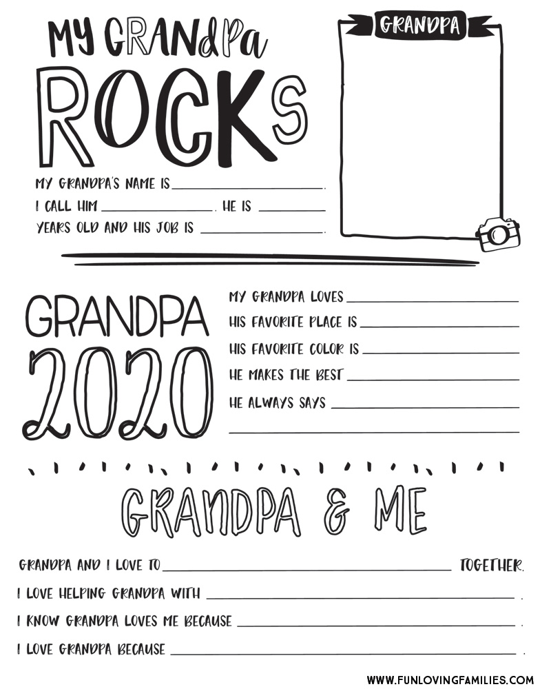 It is a picture of Grandpa Questionnaire Printable intended for project