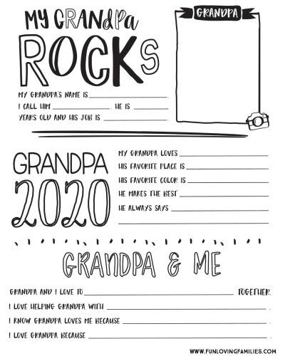 Grandpa questionnaire pdf