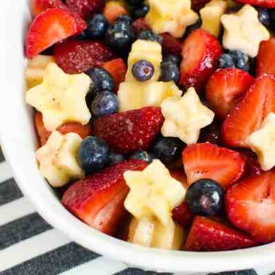 Berry and Banana Patriotic Fruit Salad