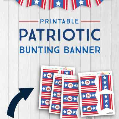Printable Patriotic Banner with Alphabet and Numbers {Free Printable}