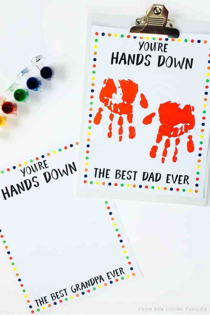 hands down best dad and grandpa handprint craft for father's day
