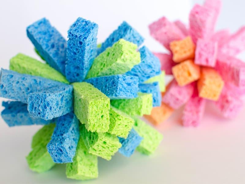How to make sponge balls for summer water games