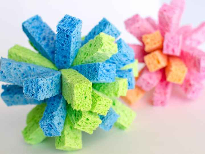 colorful DIY sponge balls