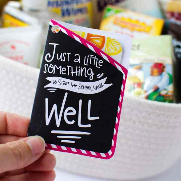A simple Teacher Survival Kit, teacher gift for the first day of school.