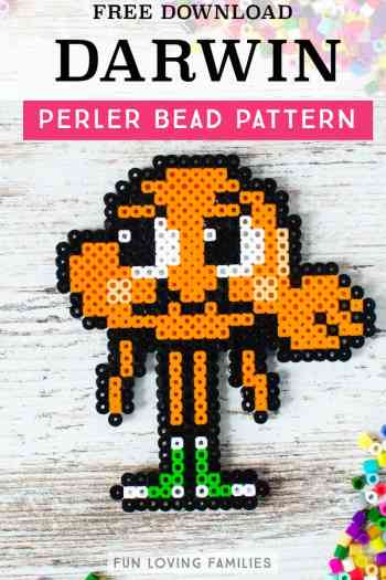 Use melty beads to make Darwin from The Amazing World of Gumball. Fun and easy craft for kids.