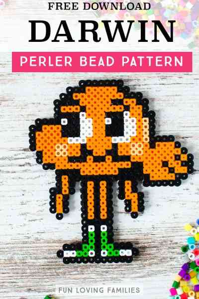 Amazing World of Gumball, Darwin the fish Perler Bead pattern