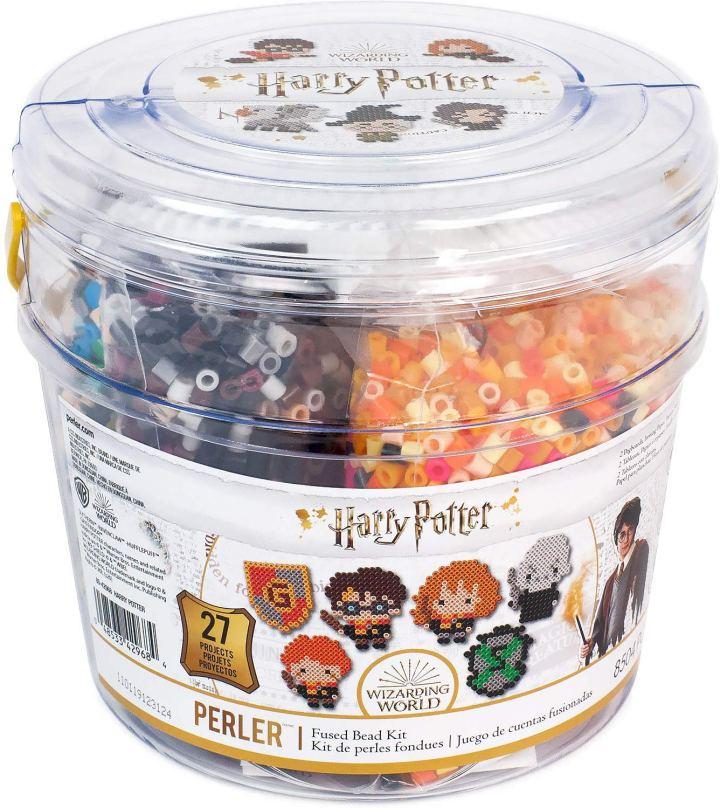 Harry Potter Perler Bead kit in a bucket