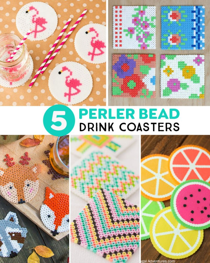 drink coaster designs for Perler Bead crafts