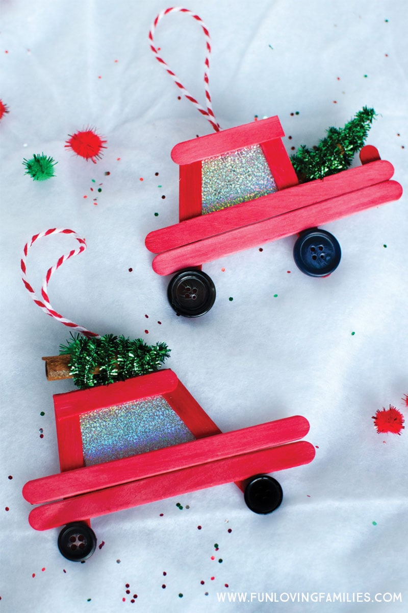 DIY Car And Truck Popsicle Stick Christmas Ornaments Fun