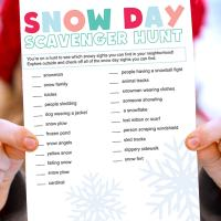 Snow Day Scavenger Hunt Activity with Printable