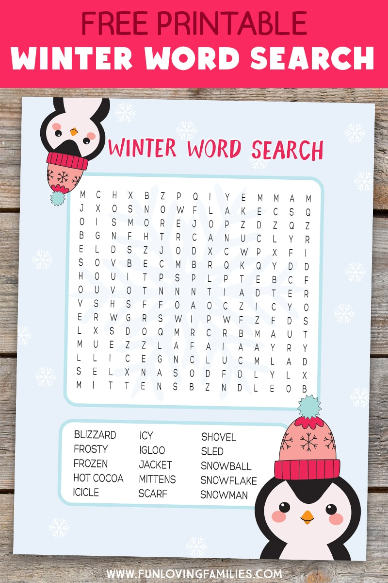 photo relating to Winter Word Search Free Printable named Valentines Working day Term Seem - Enjoyable Loving Households