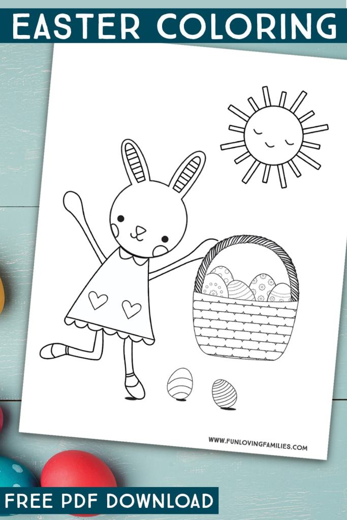 Cute Easter coloring pages for kids and adults.
