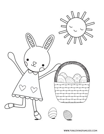 9 Easter Coloring Pages For Kids Free Printables Fun Loving Families