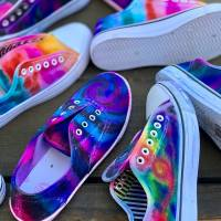 DIY Sharpie Tie Dye Shoes