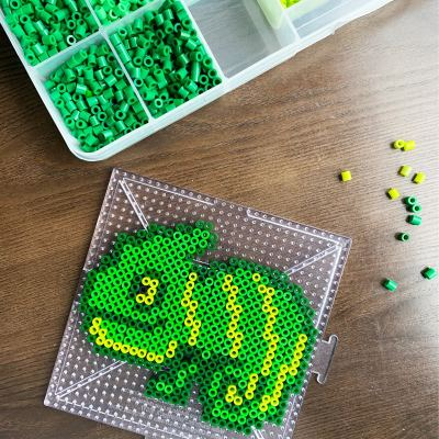 Chameleon Melty Bead Pattern (free)