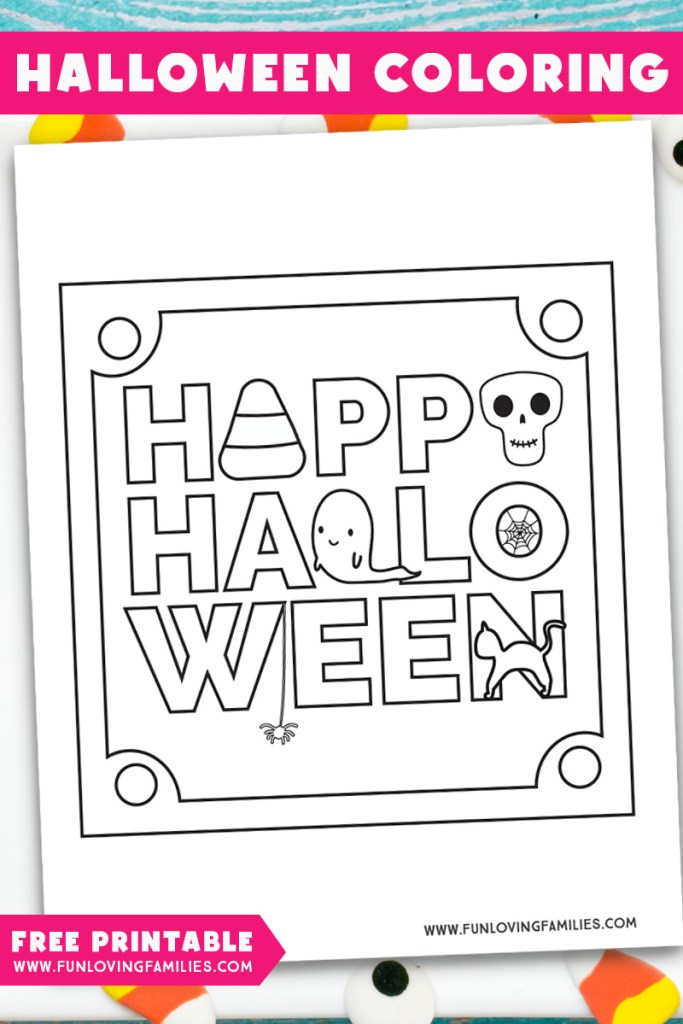 Happy Halloween coloring sheet