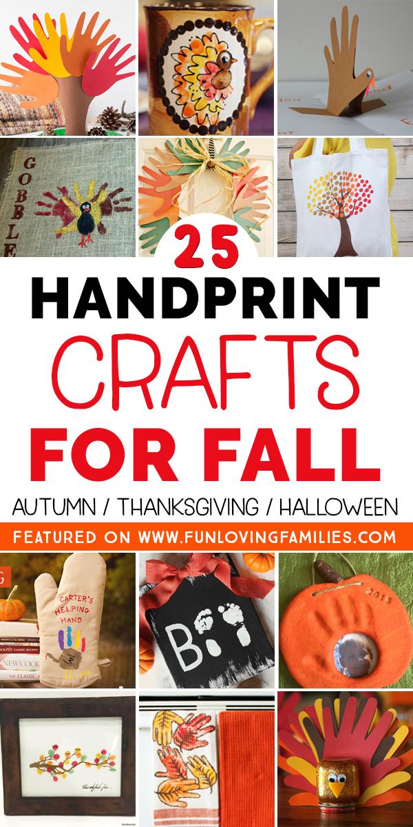 kids handprint crafts for fall