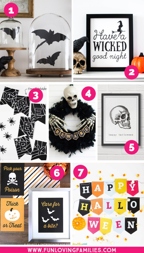 free printable Halloween decor