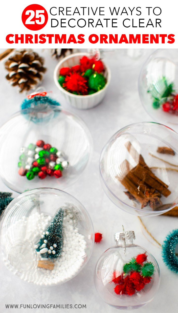 creative ways to decorate clear Christmas ornaments