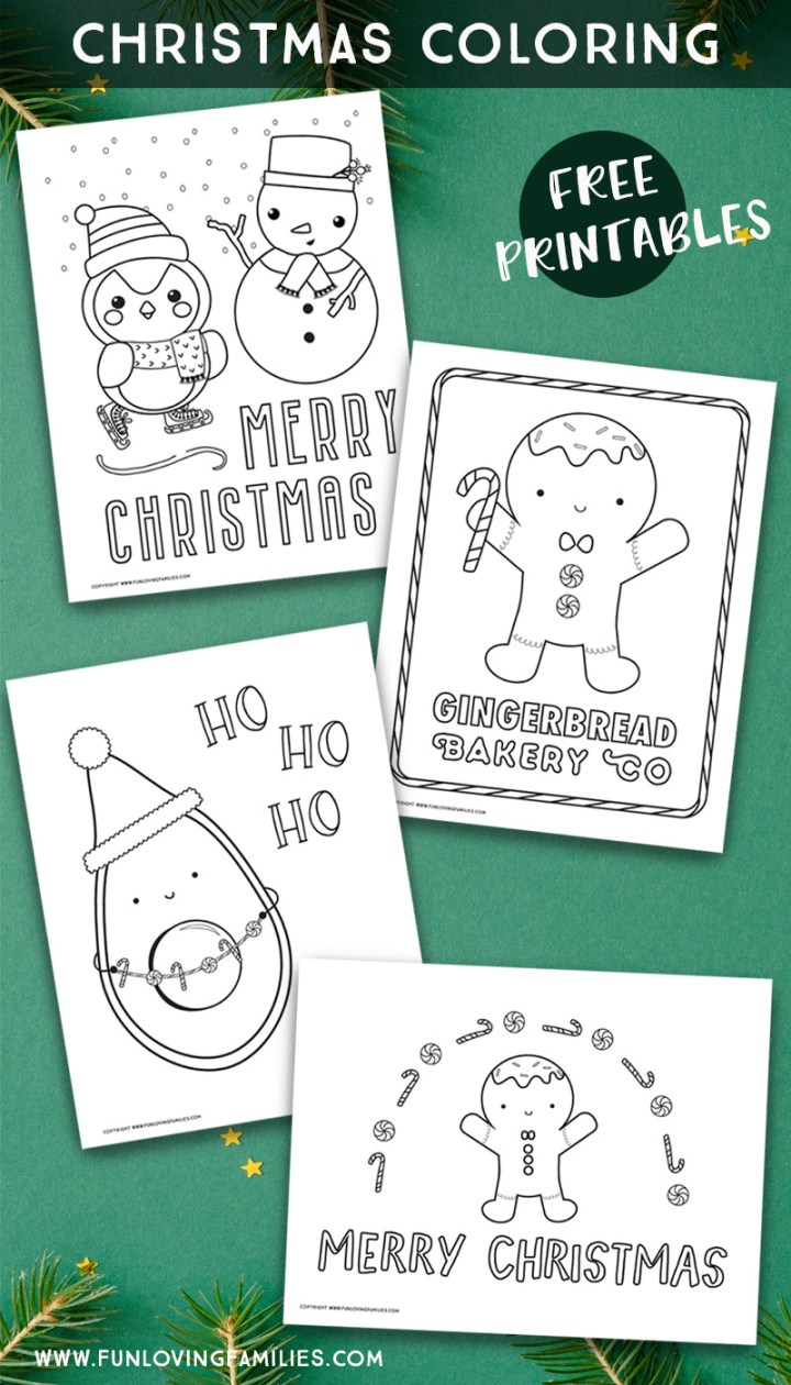 Christmas coloring pages free printables