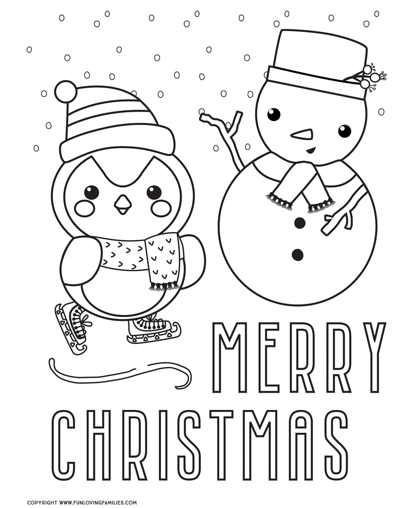 Christmas Coloring Pages Free Printables Fun Loving Families