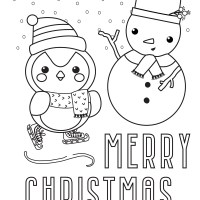 4 Christmas Coloring Pages (Free Printables)