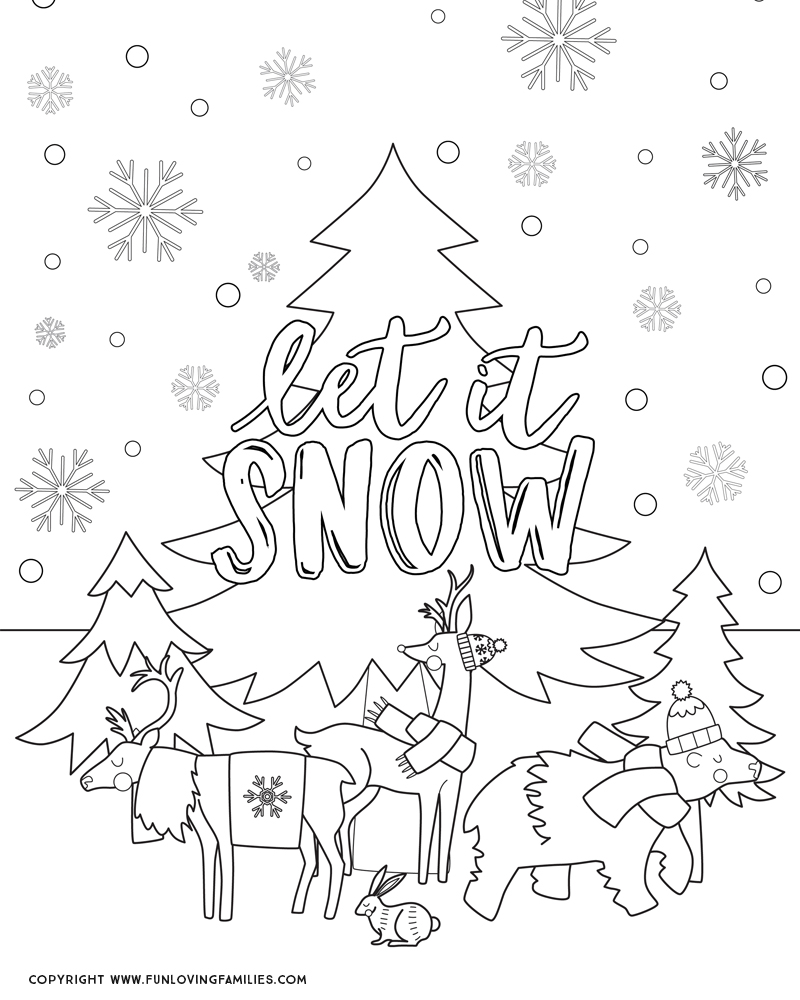 - Winter Coloring Pages For Kids - Fun Loving Families