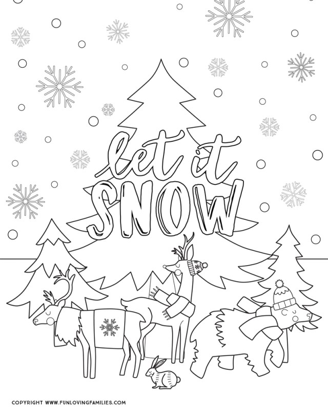 Winter Coloring Pages for Kids - Fun Loving Families