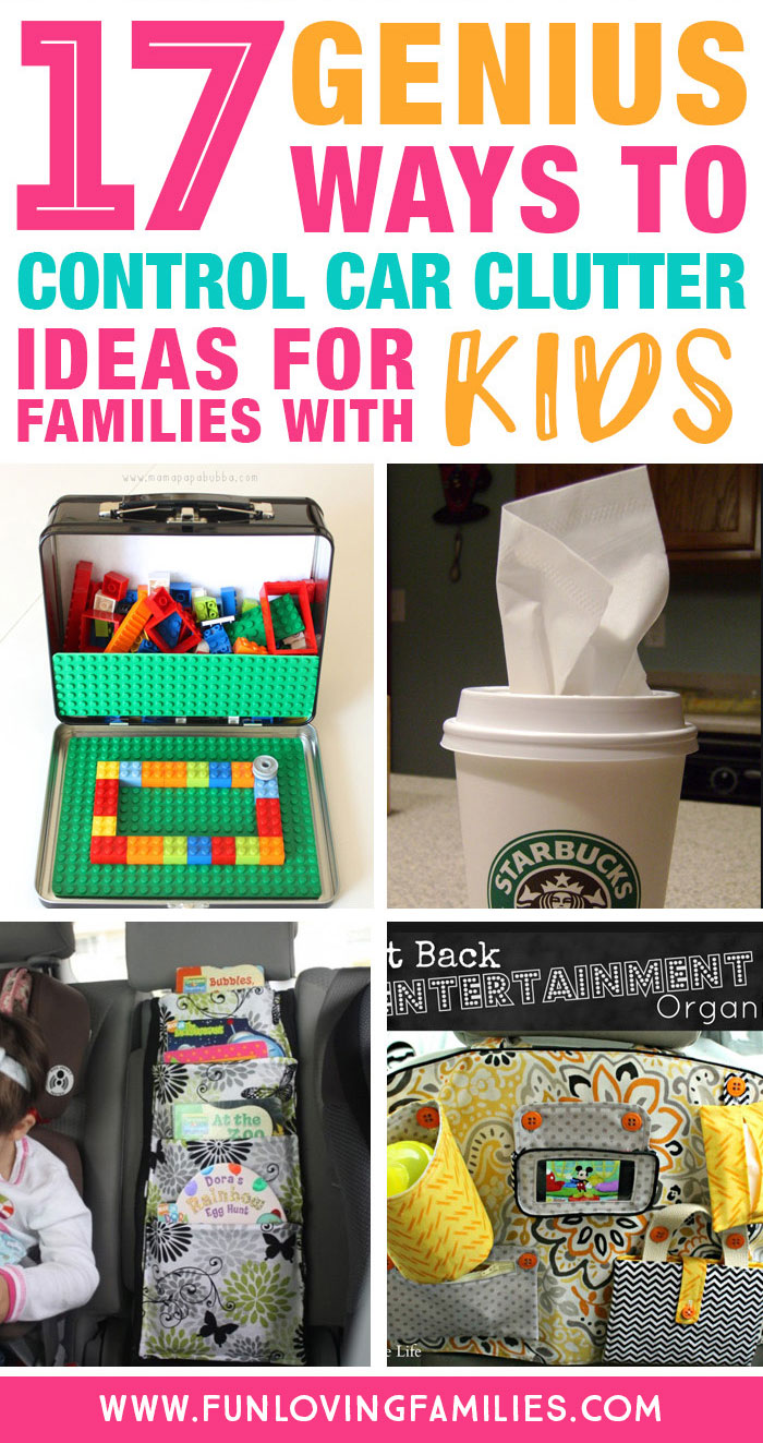 genius ways to control car clutter for parents