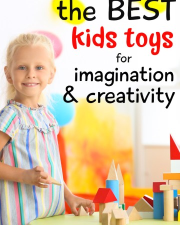 child playing with toys that foster creativity and imaginary play