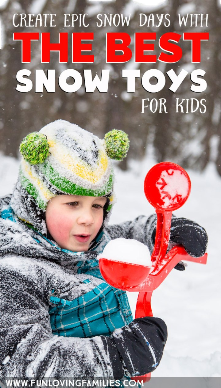 best snow toys with boy and snowball maker