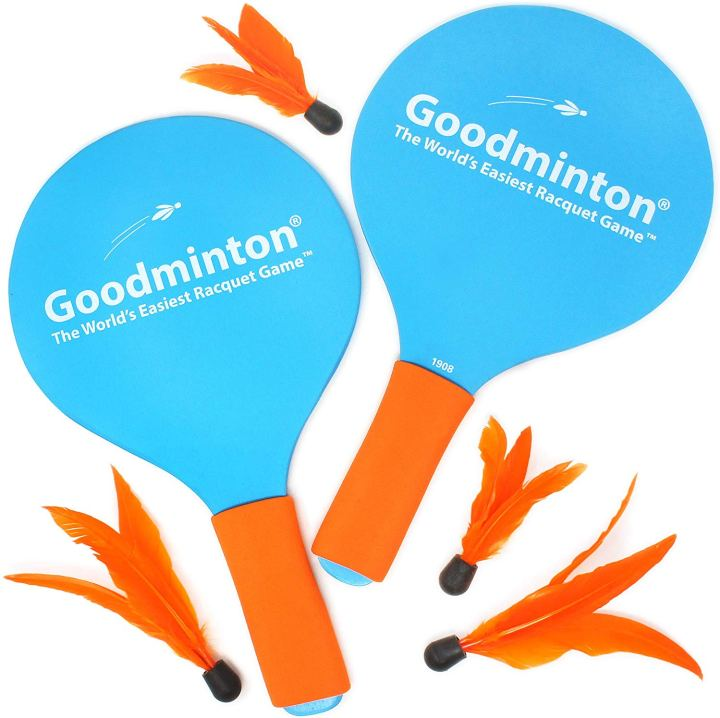 Goodminton yard game for families
