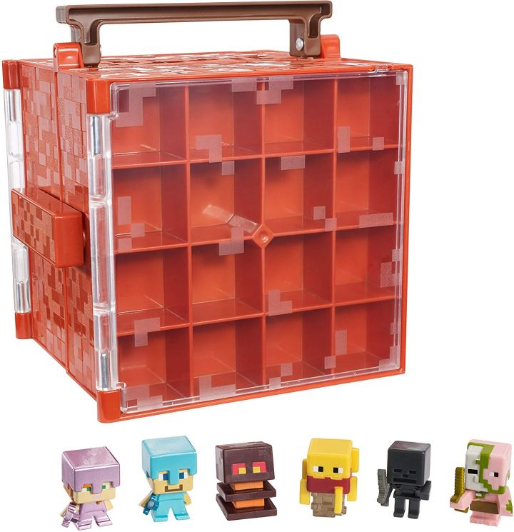 red case for minecraft minifigures