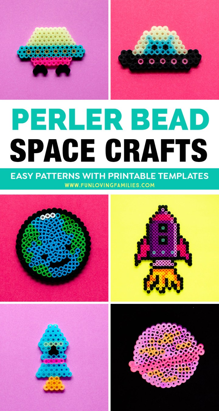 Perler bead space crafts for kids