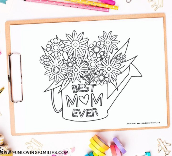 Best Mom Ever coloring sheet for Mother's Day