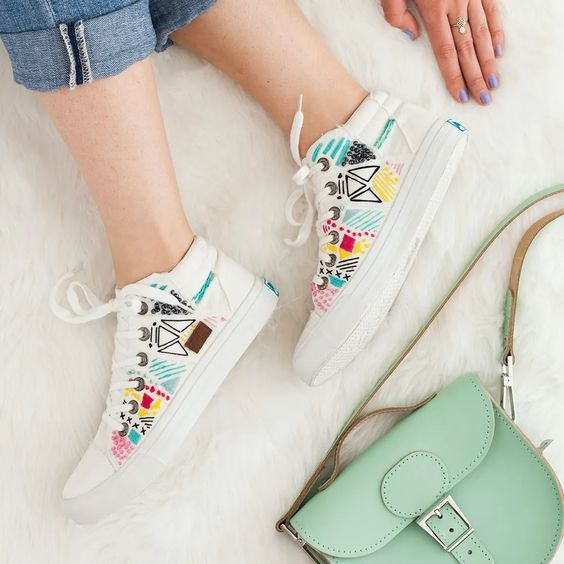 shoe embroidery designs