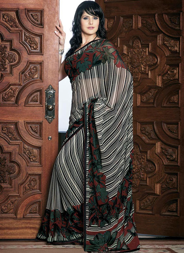 zarine-khan-glorious-saree-collection- (10)