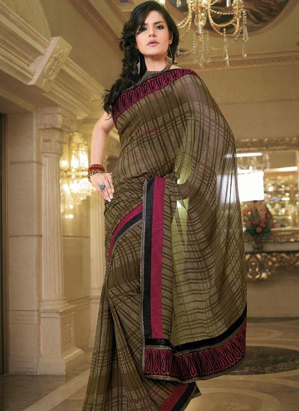 zarine-khan-glorious-saree-collection- (11)