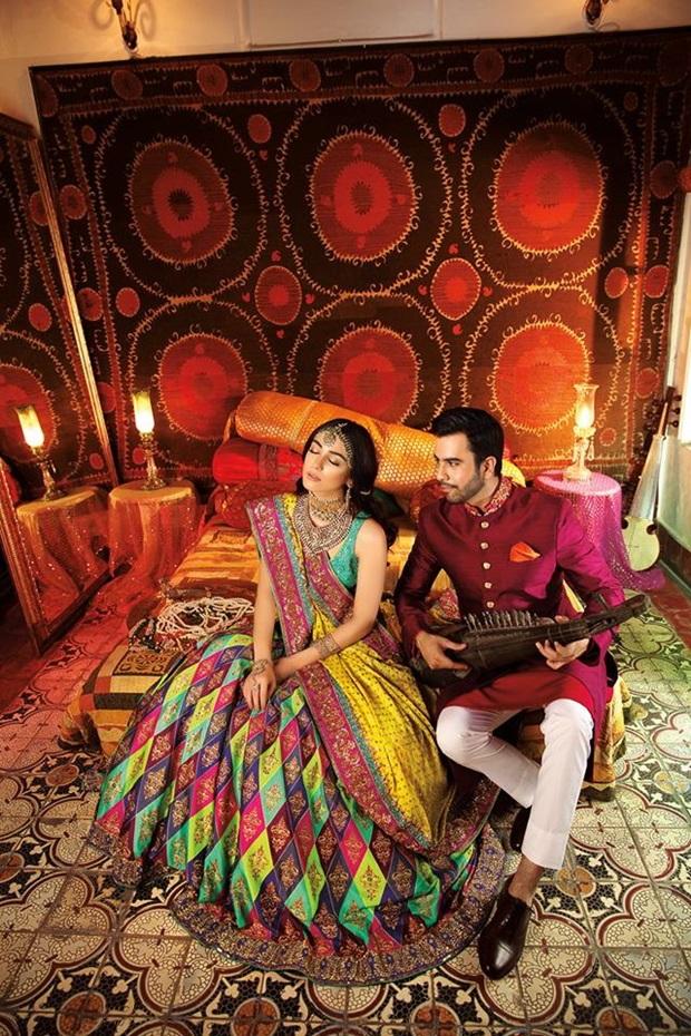 maya-ali-and-junaid-khan-photoshoot-for-nomi-ansar-bridal-wear- (5)