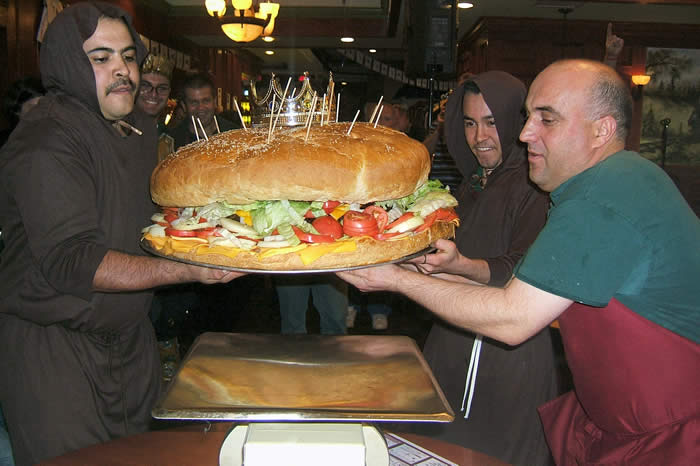 the biggest burger in the world!
