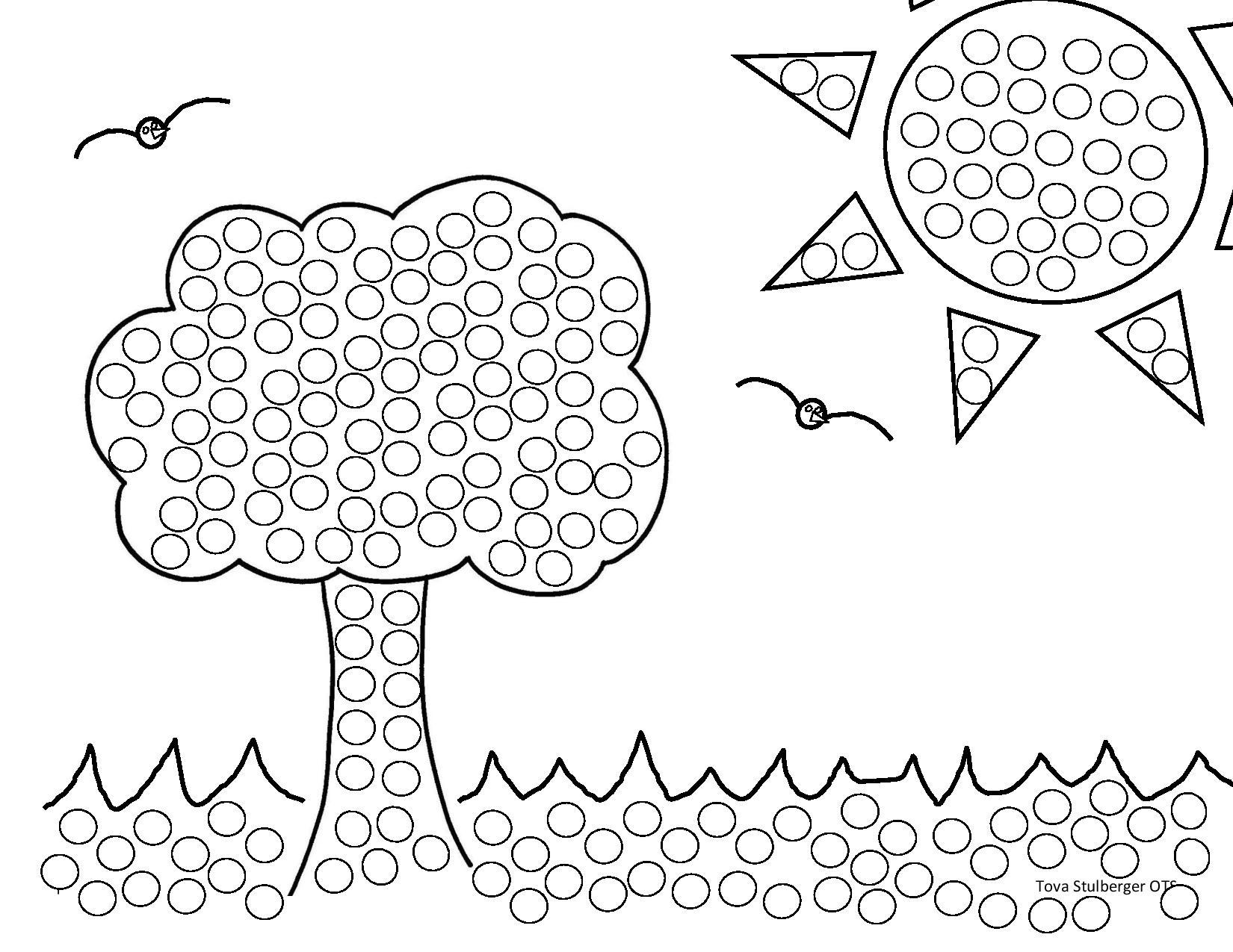 Tree Q Tip Painting Preschool And Homeschool