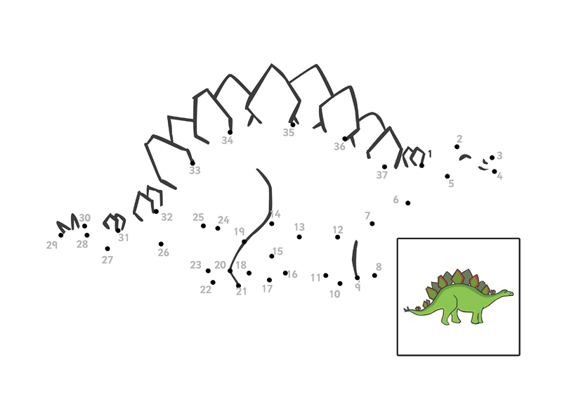 Dinosour Preschool Worksheets