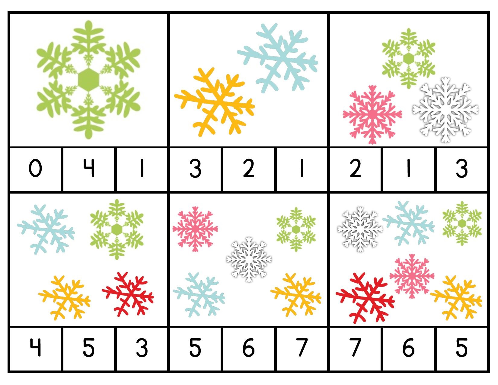 Snowflake Counting Activities Preschool And Homeschool