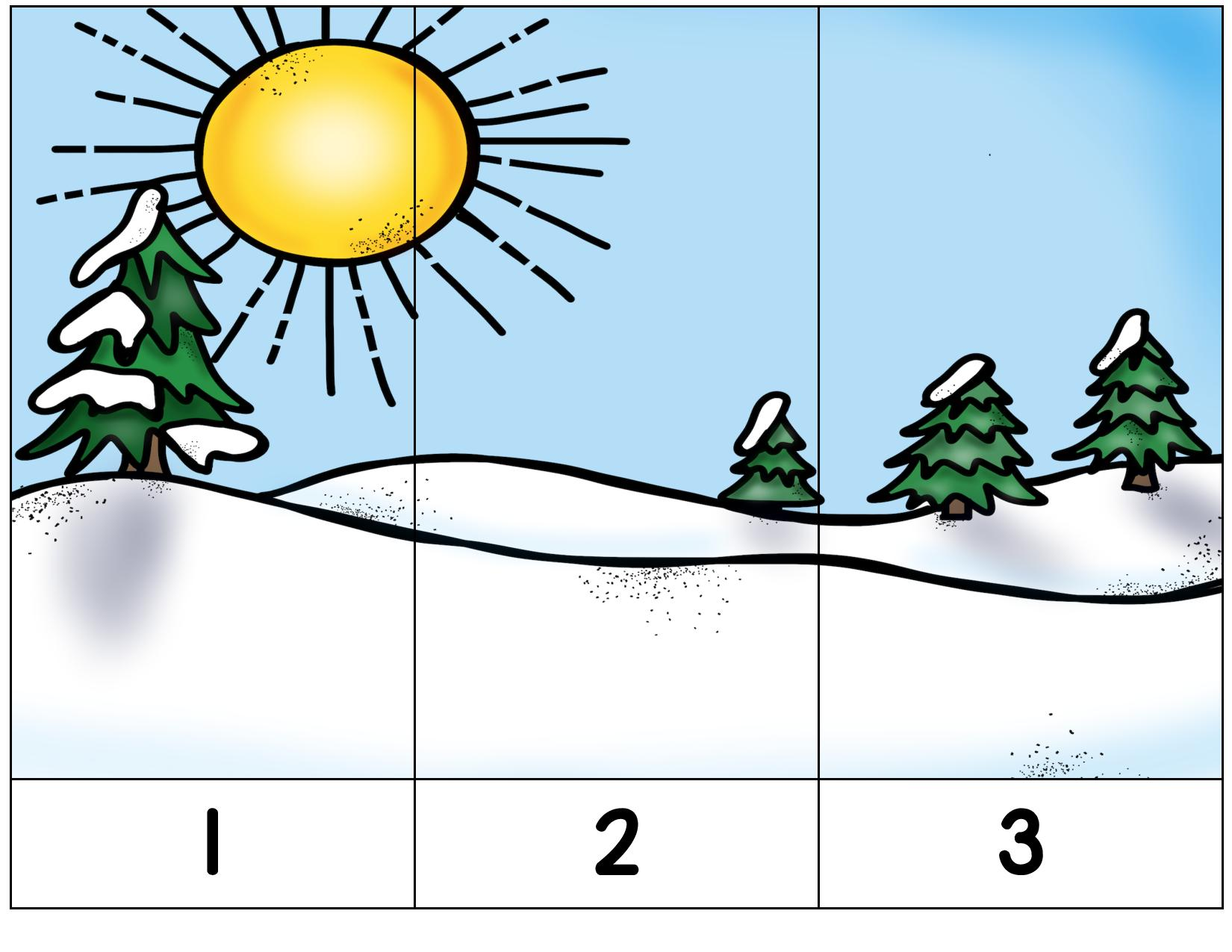 Winter Puzzle Activities Preschool And Homeschool