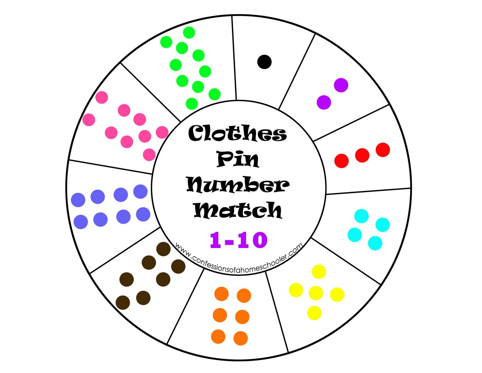 Clothespin Number Wheel Preschool And Homeschool