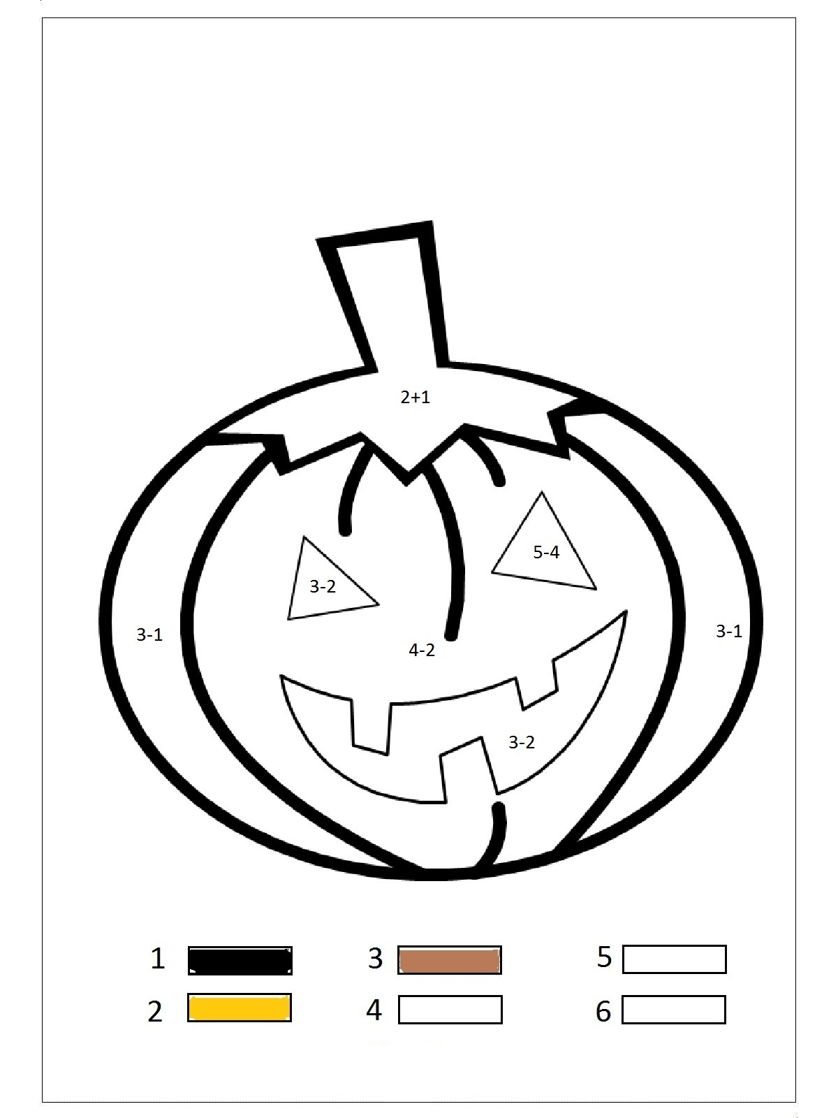 Pumpkin Color By Number Preschool And Homeschool