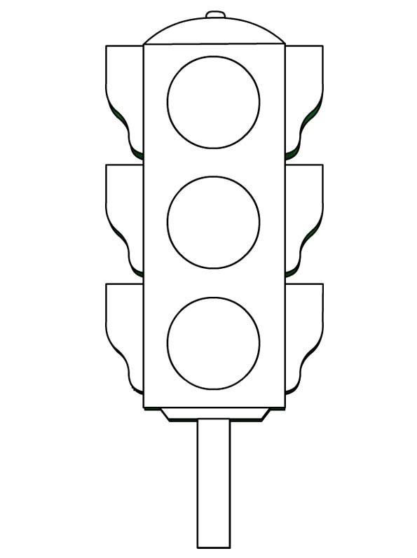 Traffic Light Coloring Worksheets Kds 5 Preschool And
