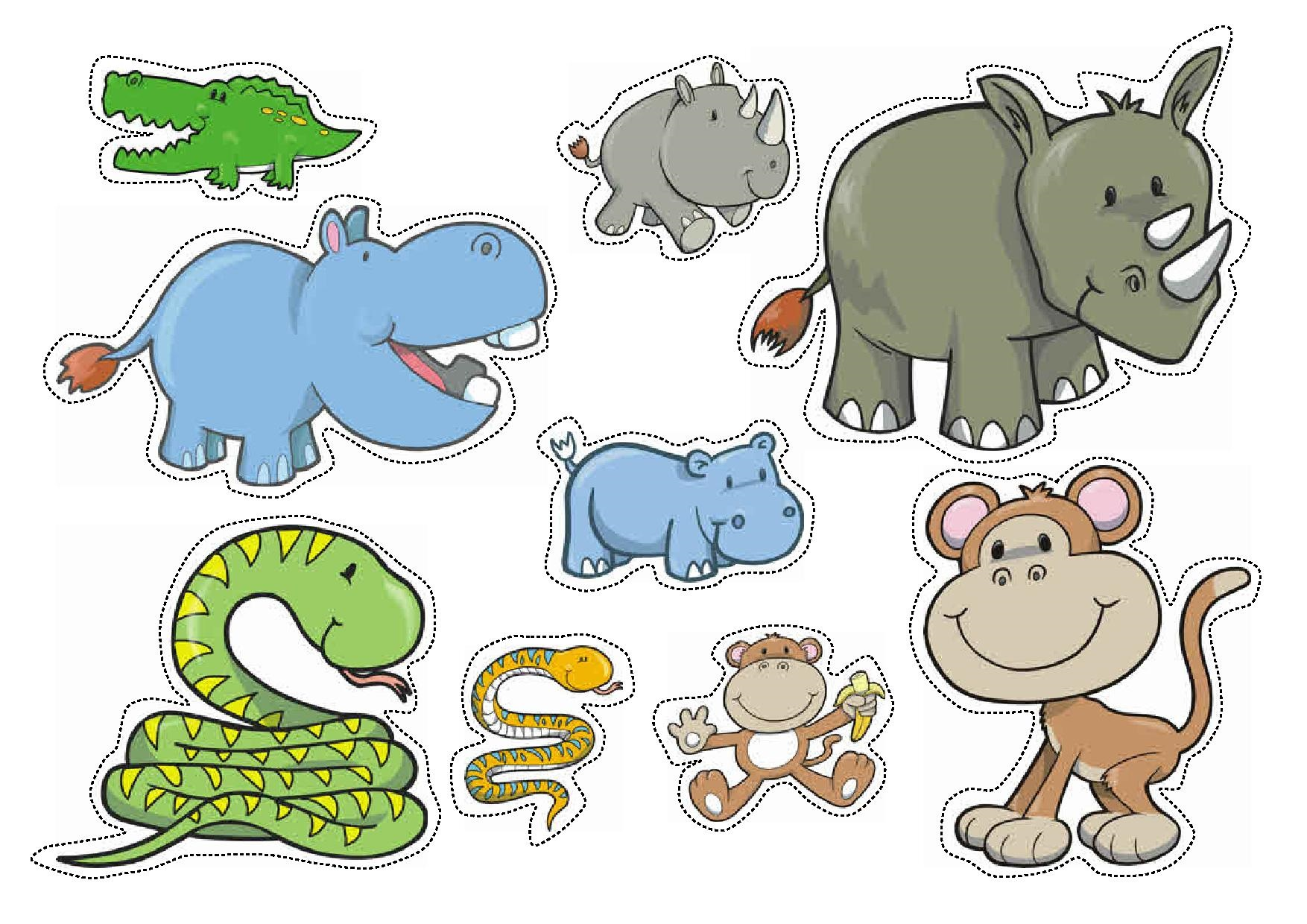 Wild Animals Sorting By Size Worksheets For Preschool