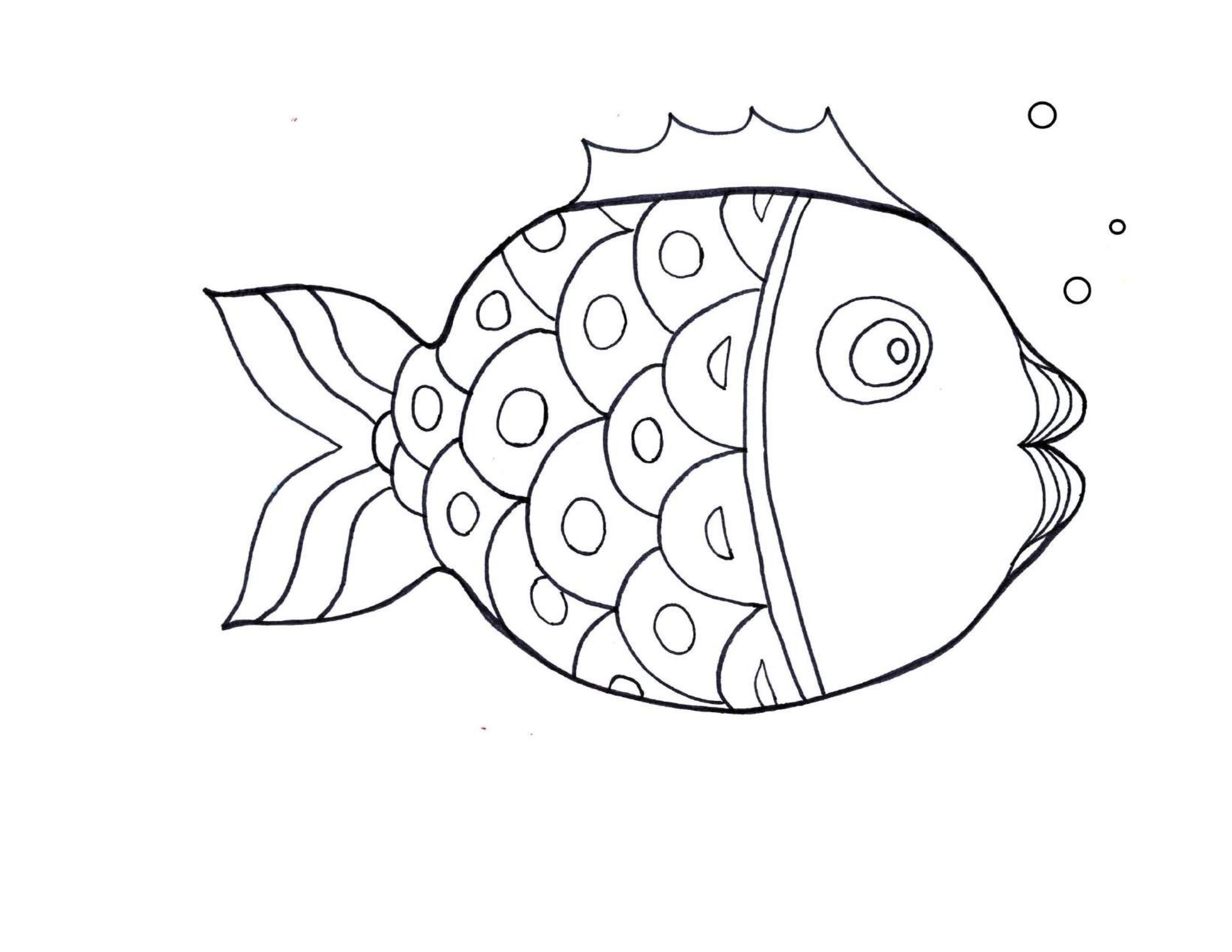 Best Fish Coloring Pages For Kindergarten 4 Funnycrafts