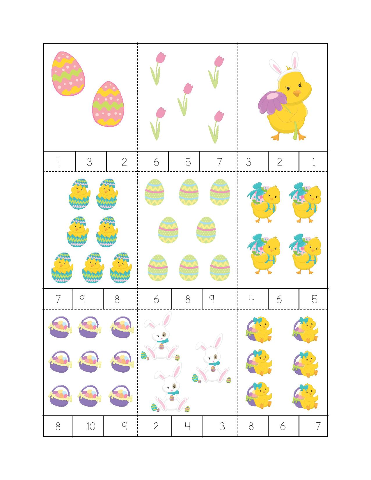 Easter Egg Memory Counting Game For Kids Preschool And
